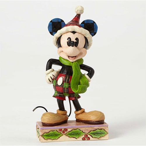 《Enesco精品雕塑》迪士尼米奇聖誕塑像-Merry Mickey(Disney Traditions)★funbox生活用品★_EN84881