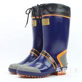 男款防水高筒橡膠套腳雨鞋  防滑釣魚時尚 BS20465『毛菇小象』TW