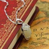 項鍊 925純銀 和闐玉吊墜-獨特氣質生日情人節禮物女飾品2色73de60[時尚巴黎]