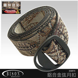 BISON DESIGNS 59RTAP 弦月扣腰帶 叢林迷彩/銅扣/皮帶/素色網織帶