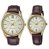 CASIO 卡西歐手錶專賣店 MTP-V005GL-9B + LTP-V005GL-9B 簡約流行石英對錶 生活日常防水