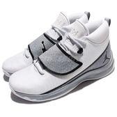 Nike 籃球鞋 Jordan Super.Fly 5 PO X 白 灰 爆裂紋 魔鬼氈 XDR 男鞋【PUMP306】 914478-103