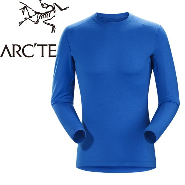 【ARC TERYX 始祖鳥 男款 Satoro AR羊毛內層圓領衫《參宿藍》】16270/保暖衣/內層衣/羊毛衣