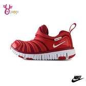 NIKE童鞋 男女童運動鞋 DYNAMO FREE (PS) 毛毛蟲鞋 慢跑鞋 跑步鞋 中大童 Q7116#紅色◆奧森