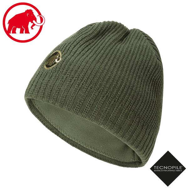 【MAMMUT 長毛象 Sublime Beanie 雙層針織保暖羊毛帽《綠鬣蜥》】1191-01542/毛線帽/禦寒帽