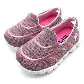 《7+1童鞋》小童  簡便好穿 布面 懶人鞋   F209   粉色