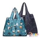 環保袋 2個裝 超市購物袋手提買菜包便攜環保袋大容量可摺疊防水牛津布 多款