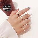 [現貨] 簡約個性幾何戒指5件組 MSH J2309 戒指 手飾 配件 金色
