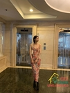 吊帶洋裝 暗香浮動顯白仙美復古性感印花度假連衣裙吊帶長裙 限時折扣