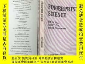 二手書博民逛書店(英文原版)Fingerprint罕見Science: How
