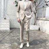 韓國西裝男套裝修身韓版英倫風青年正裝外套新郎婚禮小西服【博雅生活館】