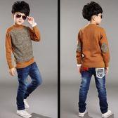 男童毛衣男童裝冬裝冬季小學生毛衣加厚加絨保暖打底衫大童男孩