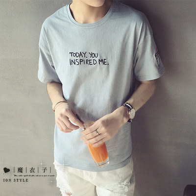 【QY106】魔衣子-夏季新款英文字母圓領短袖T恤