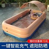 充氣泳池 超大號兒童充氣游泳池家用成人家庭洗澡池小孩寶寶加厚嬰兒游泳桶 夢藝