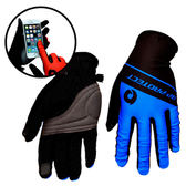 捷豹防曬透氣觸控手套 T-03 -M-藍色