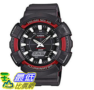 [美國直購] 手錶 Casio Mens AD-S800WH-4AVCF Solar Watch with Black Resin Band