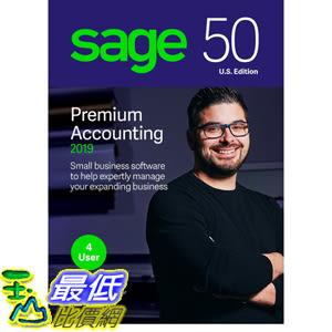 [8美國直購] 暢銷軟體 Sage 50 Premium Accounting 2019 – Advanced Accounting Software – Safe and B07FMT5DNS