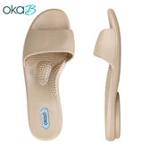 【OkaB】GRACE素面一字拖鞋 金色(K8246-GO)
