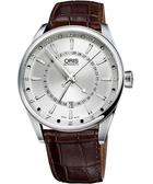ORIS 豪利時 Artix 指針式月亮周期手錶-銀x咖啡/41mm 0176176914051-0752180FC