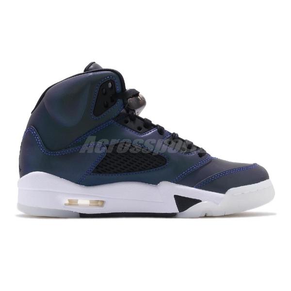 Nike Wmns Air Jordan 5 Retro Oil Grey 藍 黑 女鞋 籃球鞋 運動鞋 喬丹 五代 【ACS】 CD2722-001