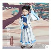 兒童書童表演服裝男童古裝漢服演出服幼兒女童國學古裝書童三字經 一米陽光