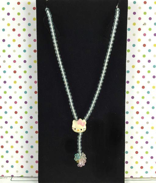 【震撼精品百貨】Hello Kitty 凱蒂貓~伸縮項鍊-珠藍