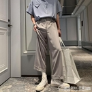 免燙抗皺垂感褲子 男加絨 純色 寬鬆直筒褲 闊腿休閒褲 純色長褲西褲 圖拉斯3C百貨