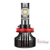 車燈 汽車led大燈帶透鏡h7h11h4遠近光一體超亮聚光強光遠近光燈泡改裝 2色