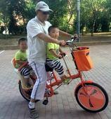 親子車母子車折疊雙人座可以帶小孩女式變速母嬰車【潮咖地帶】