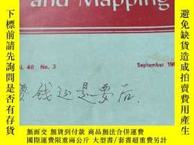 二手書博民逛書店Surveying罕見and Mapping September