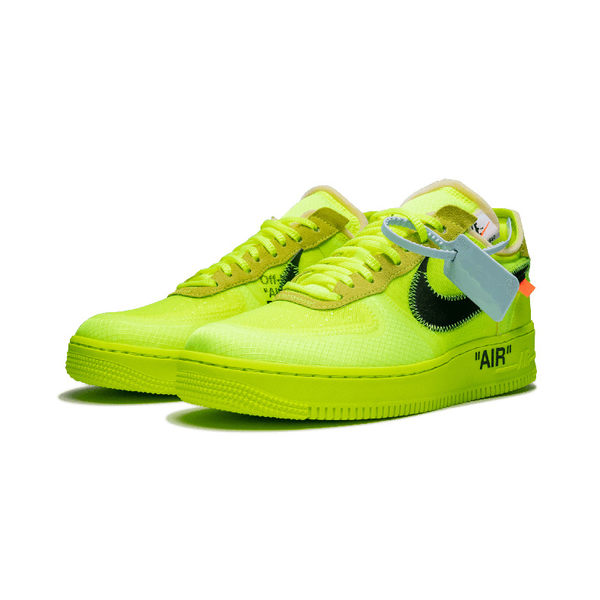 Nike Air Force 1 OFF-WHITE OW 聯名熒光綠 男子板鞋 休閒鞋 AO4606-700