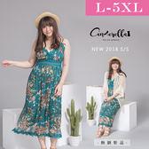 大碼仙杜拉-中大尺碼 蕾絲拼接波西米亞度假洋裝/洋裝 L-5XL碼 ❤【WM511】(預購)