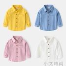 男童襯衫長袖春秋洋氣2020新款兒童襯衣外套秋裝寶寶童裝上衣 小艾新品