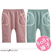 兒童素色雙口袋造型長褲 哈倫褲