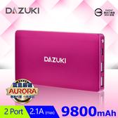 [富廉網] 【DAZUKI】IS-103 鋁合金極致薄行動電源 9800mAh 粉紅/金/黑/藍