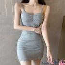 熱賣抹胸洋裝 V領性感吊帶連身裙女裝春夏季2021新款抹胸包臀短裙氣質甜辣裙子【618 狂歡】