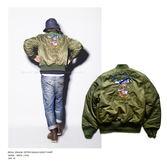 日版男女款MA1背画加厚防水飛行夾克棒球外套100x34【Brag Na義式精品】