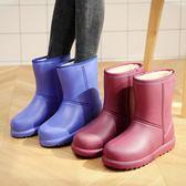 雨靴 冬季加絨雨鞋保暖棉雨靴廚房防滑加棉水靴防水膠鞋水鞋
