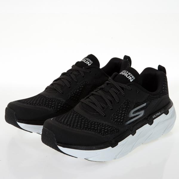 SKECHERS GORUN MAX CUSHIONING PREMIER 女款黑色寬楦慢跑鞋 - 17690WBKW