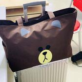 旅行袋可愛韓版大容量旅行包女手提旅游包包包帆布短途行李袋網紅 喵小姐