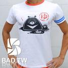 奢華壞男《溫泉熊限量款 - 超舒適彈性合身剪裁T恤 (白底紅領) 》【M / L / XL / 2L / 3L】