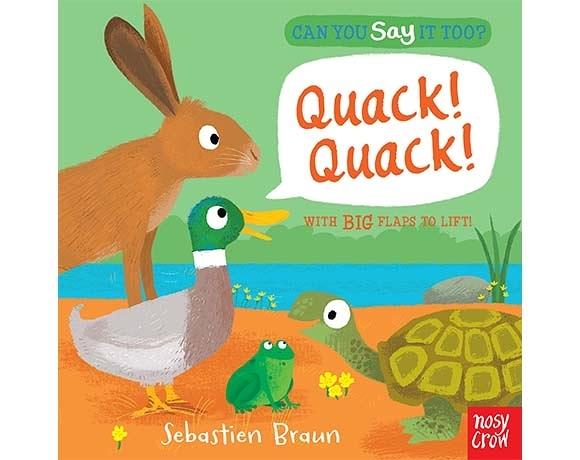 Can You Say It Too? Quack! Quack! 森林動物翻翻書(美國版)