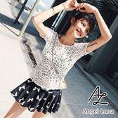 比基尼泳裝-日本品牌AngelLuna 日本直送 黑色蝴蝶結罩衫三件式溫泉沙灘泳衣