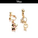 【迪士尼系列】米妮星星鑰匙夾式耳環~夏綠蒂didi-shop