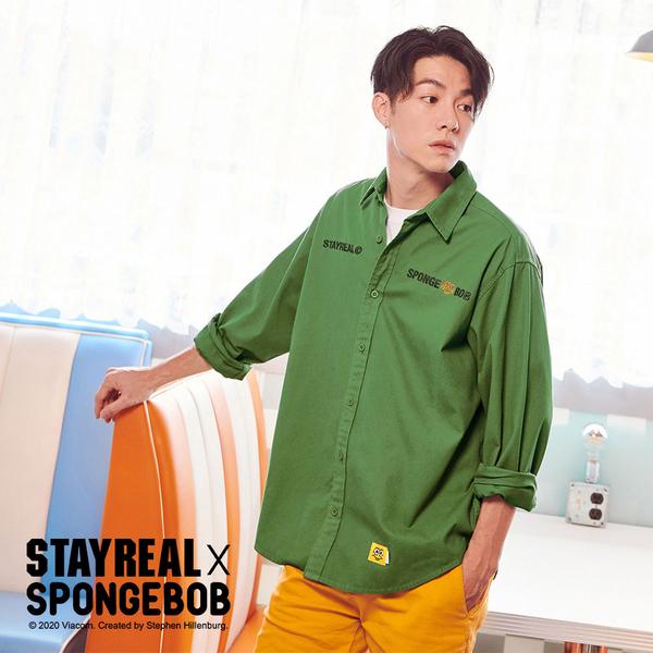 STAYREAL x SpongeBob 海綿寶寶聯名襯衫