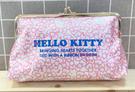 【震撼精品百貨】Hello Kitty 凱蒂貓~Hello Kitty日本SANRIO三麗鷗KITTY化妝包/筆袋-珠釦滿版*15090