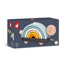 【 法國Janod 】北歐簡約木玩-彩虹龜托托 / JOYBUS玩具百貨