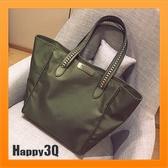 手提包蝙蝠包大包包斜背包單肩包鍊條包編織包素色包包-黑/綠【AAA2832】預購
