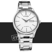 CITIZEN 星辰表 / NH7520-56A / 機械錶 自動上鍊 藍寶石水晶玻璃 日期星期 不鏽鋼手錶 銀白色 40mm