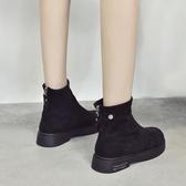小短靴 新款切爾西靴 百搭平底 馬丁靴女 ☸mousika